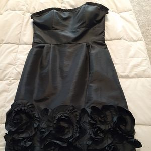 Black strapless formal dress size 8